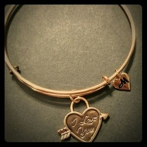 Rose Gold Bangle - I Love You 💘
